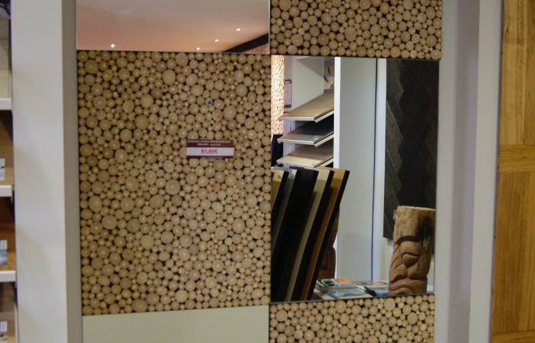 panneaux-rondin-teck-miroir